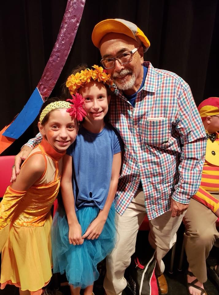 "Juan Felipe Herrera with Flower Dancers in ""Circus Metamorphosis"" 2018"