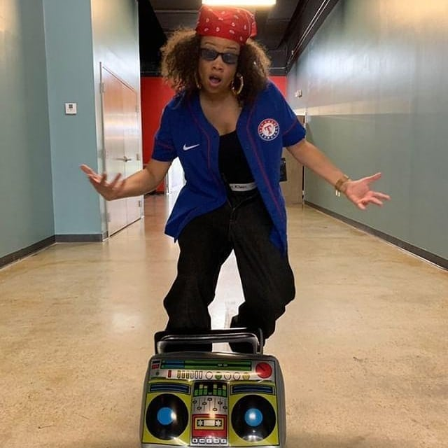 Y'all are not ready!!!!!! My album dropping soon! My name is Right EyeLiyah 🤣🤣🤣🤣🤣🤣🤣🤣 #CornY #80sbaby #90sraisedme #baggyjeans #roundthewaygirlhoops #boxers #bandana #boombox #fakegangsigns #kriskross