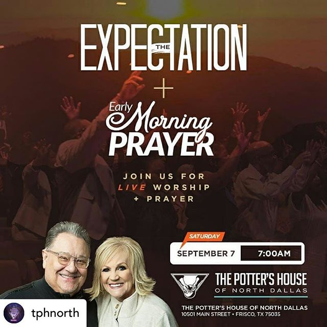 Meet me tomorrow @7am #repost • @tphnorth What are you believing the Lord for? Meet us this Saturday at 7am for a morning full of expectation! We hope to see you there! #NorthDallasWins #TheExpectation + #EarlyMorningPrayer