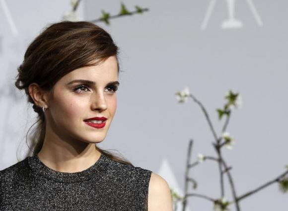 Presenter Emma Watson poses at the 86th Academy Awards in Hollywood, California March 2, 2014 CREDIT: REUTERS/ MARIO ANZUONI