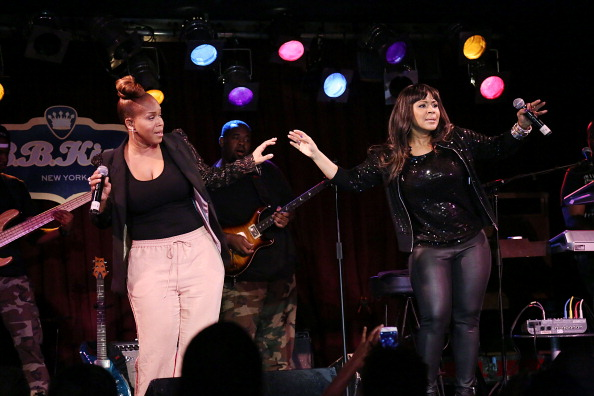 NEW YORK, NY - JULY 25:  Erica Campbell (R) and Tina Campbell of Mary Mary perform at BB King on July 25, 2013 in New York City.  (Photo by Rob Kim/Getty Images)