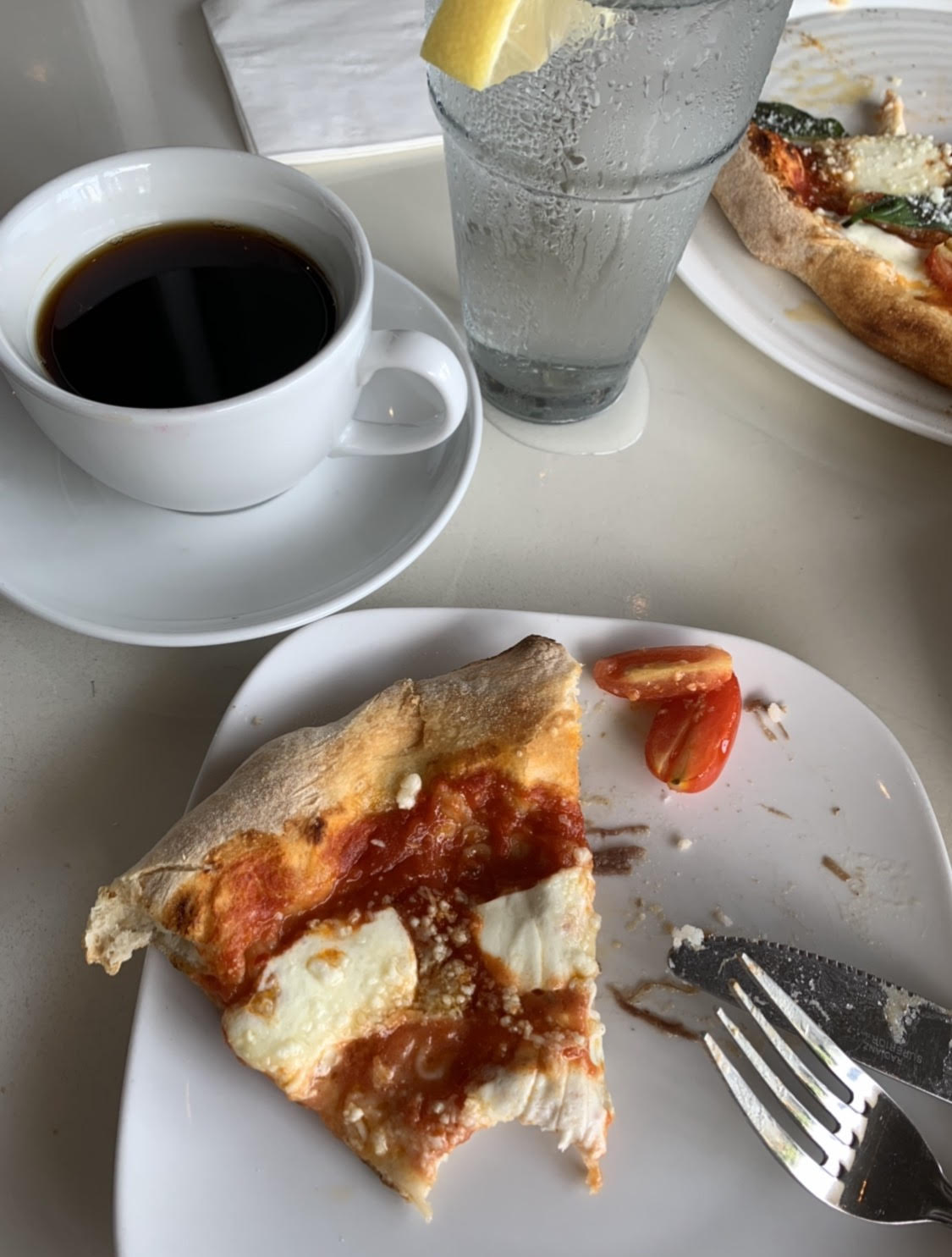 Just eating the fucking pizza and drinking the fucking coffee because I contain multitudes okay?