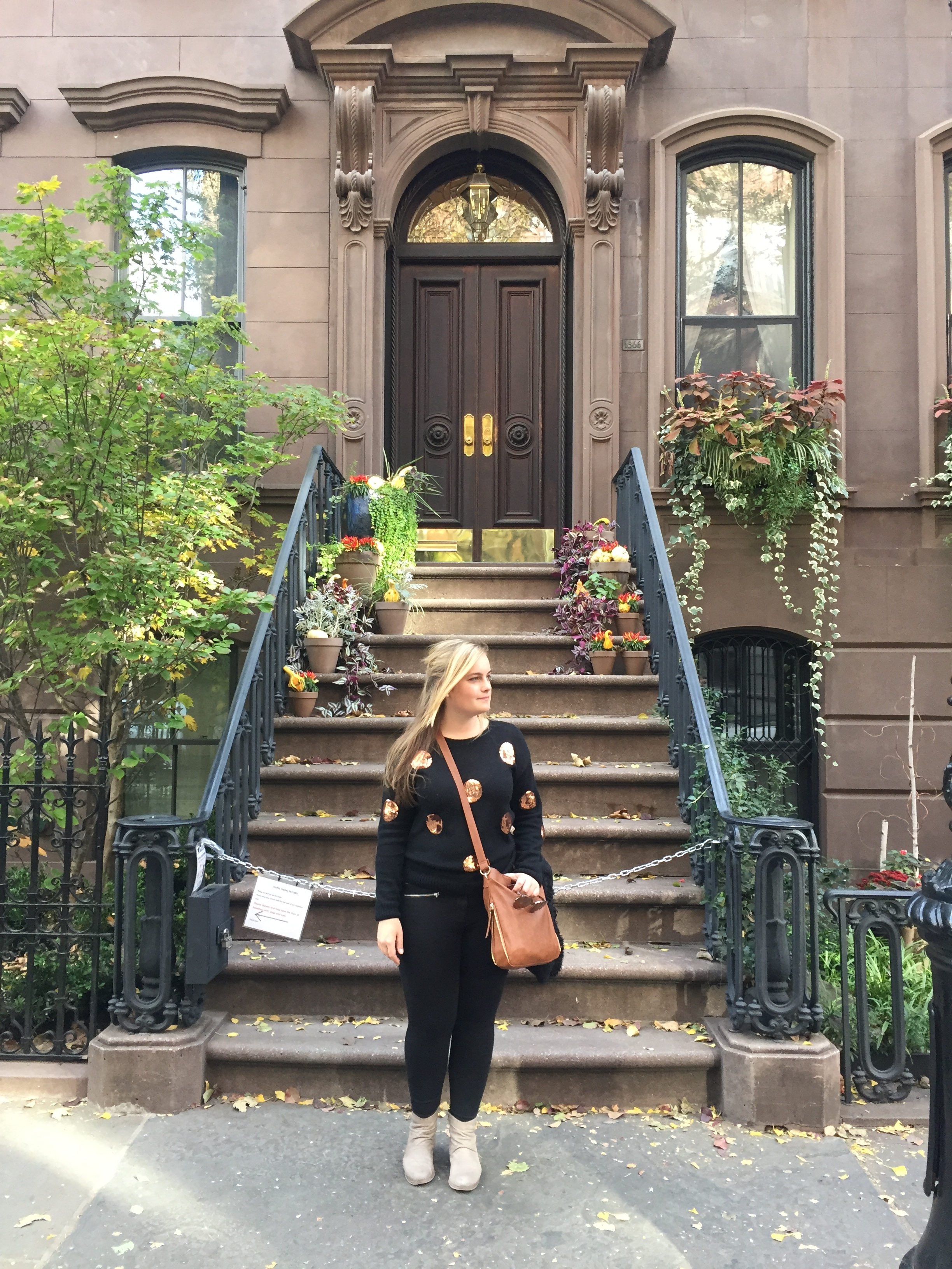 I couldn't help but wonder - At the steps of Carrie Bradshaw's apartment in New York, figuring out my next steps.