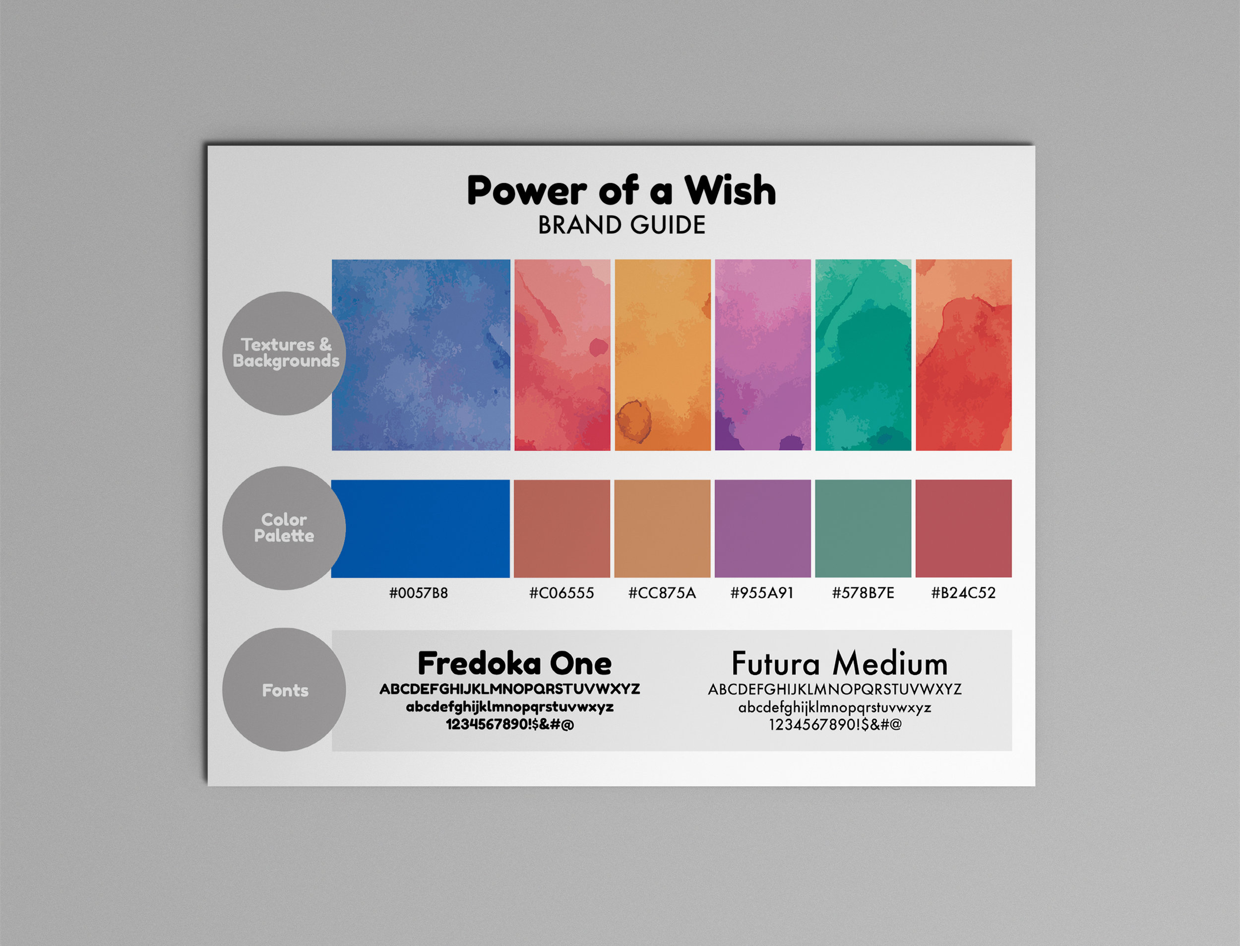 """Power of a Wish"" official brand guide"