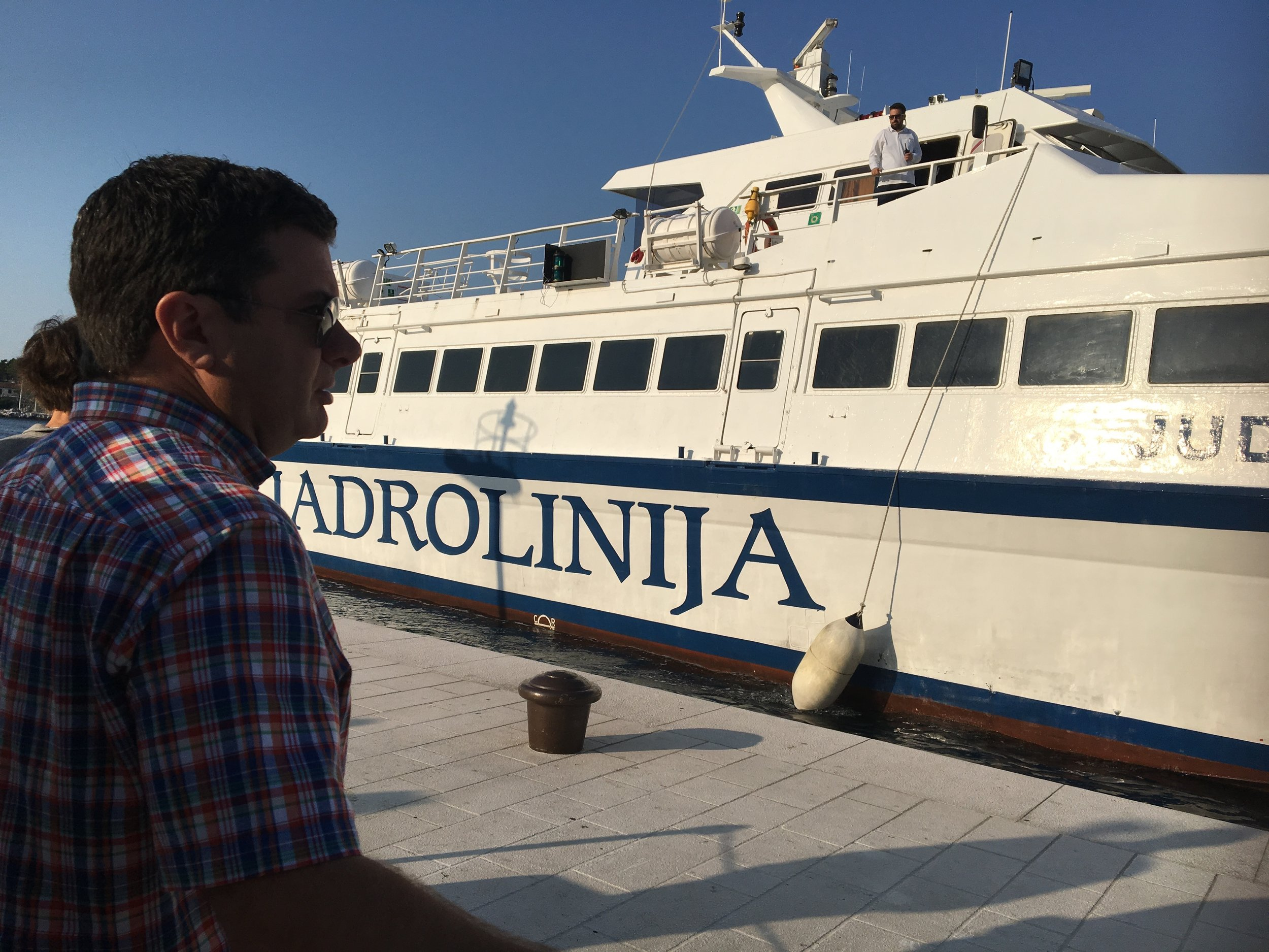 Heading out of Havar Island on Jadrolinija