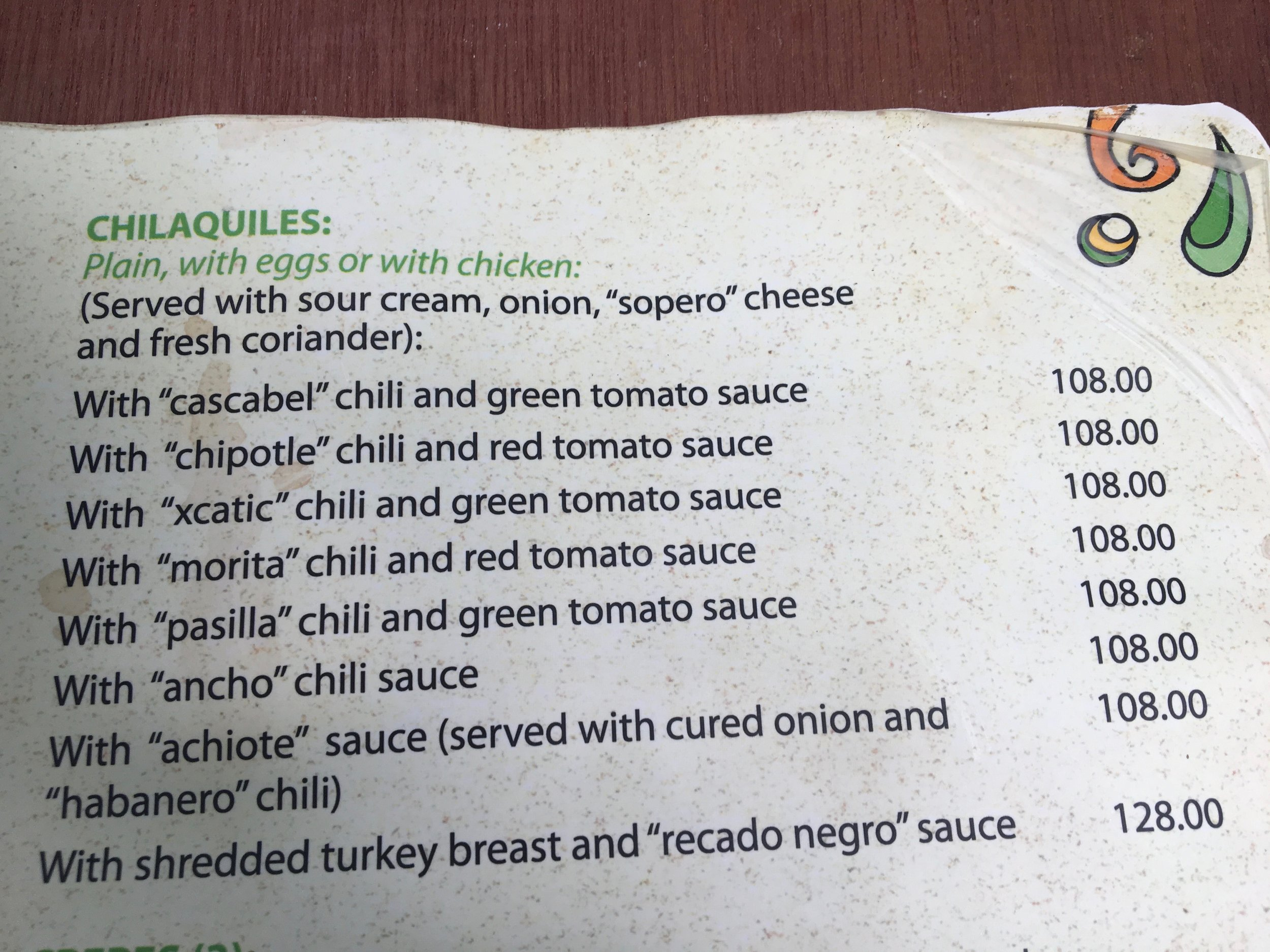 I just liked how they highlighted each of their chili's unique flavor which no one does here in the states but you can bet in the Yucatan, they want to highlight each of their chilis.