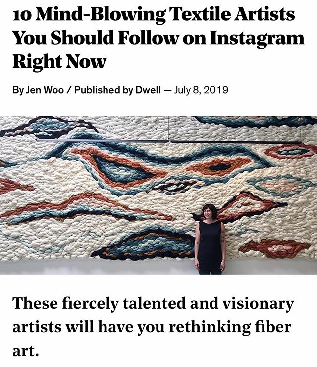 So excited that @jen_woo wrote about me and some of my favorite fiber friends for @dwellmagazine! The link is in my profile!