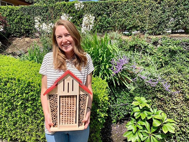 I'm so excited to use my @bambeco bee house to create a space for local bees to live to encourage population growth! • • For more ideas to help your local bees check out the latest post on the blog! • • Let me know what you're doing to #savethebeesplease🐝 in the comments below or by posting your own picture with the hashtag! • • #savetheearth #sustainability #sustainableliving #savethebees #honeybees #beehouse🐝