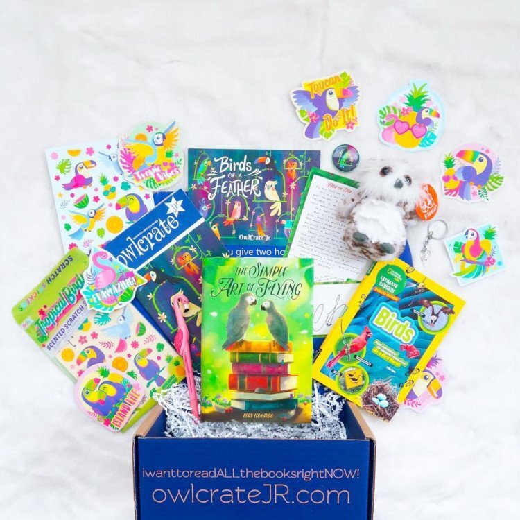 The Simple Art of Flying flies into March 2019's OwlCrate Jr. subscription boxes - For more information on this stellar company and how to sign up for your very own book boxes, click here.Image by @robbyreads
