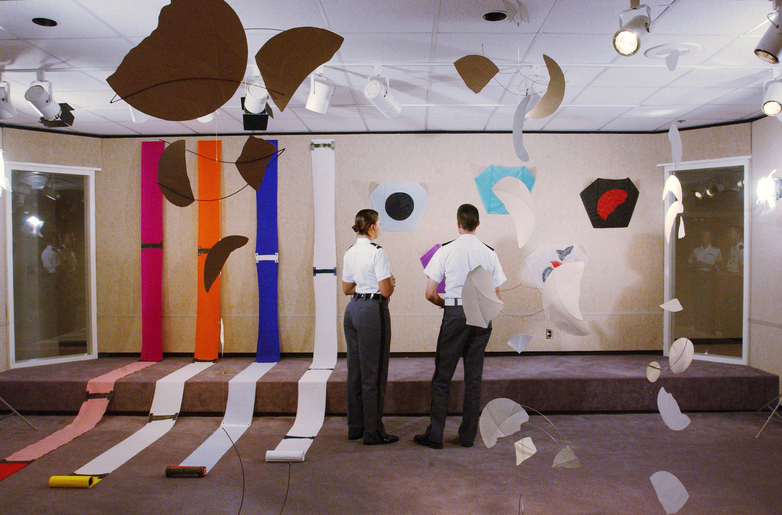 Installation of Jackie Matisse's exhibition in Virginia Tech's Perspective Gallery