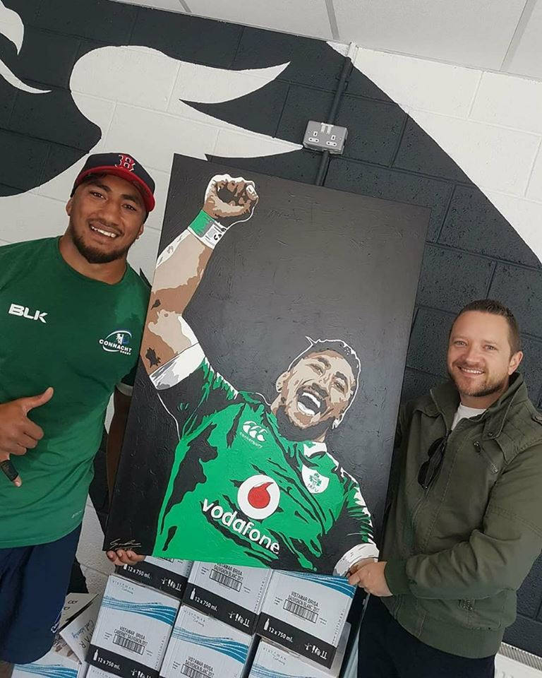'FANS FAVOURITE' - Pro 12 champion with my local rugby side Connacht, Bundee Aki is loved all throughout my native Galway as a fierce competitor on the rugby field but a fun loving gentleman off it! I'm certain I speak for everyone when I say how thrilled I was when he opted to play for Ireland and in his first major tournament 'Uce' won The Six Nations Championship, Grand Slam & Triple Crown titles!
