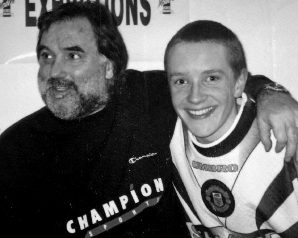 'SIMPLY THE BEST' - 15 years old meeting the one and only George Best. I later went on to have the incredible honour of producing a video tribute to George in 2010, which played at the Grand Opera house, in the presence of George's family, close friends and former team mates. You can also read a full page tribute I had published in the book, 'George Best will not be playing today'.