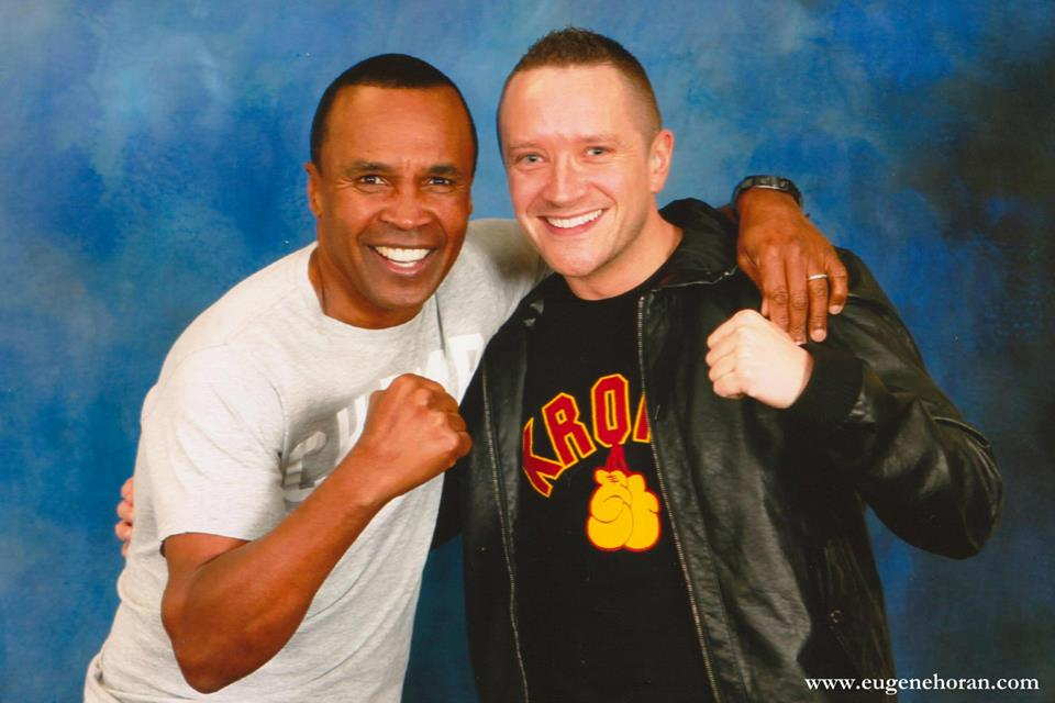 'GIVE ME SOME SUGAR' - The legendary Sugar Ray Leonard. World champion at FIVE different weight categories. A thorough gentleman and born entertainer, in and out of the ring!