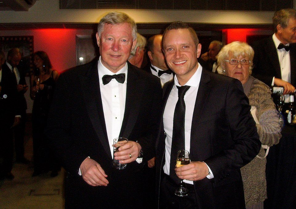 'CELEBRATING 26 GLORIOUS YEARS' - As a lifelong Manchester United fan, Sir Alex Ferguson took the Manchester United managerial job when I was just 4 years old. What an honour it was to share his last ever 'Player of the Year' awards at Old Trafford in May 2013.