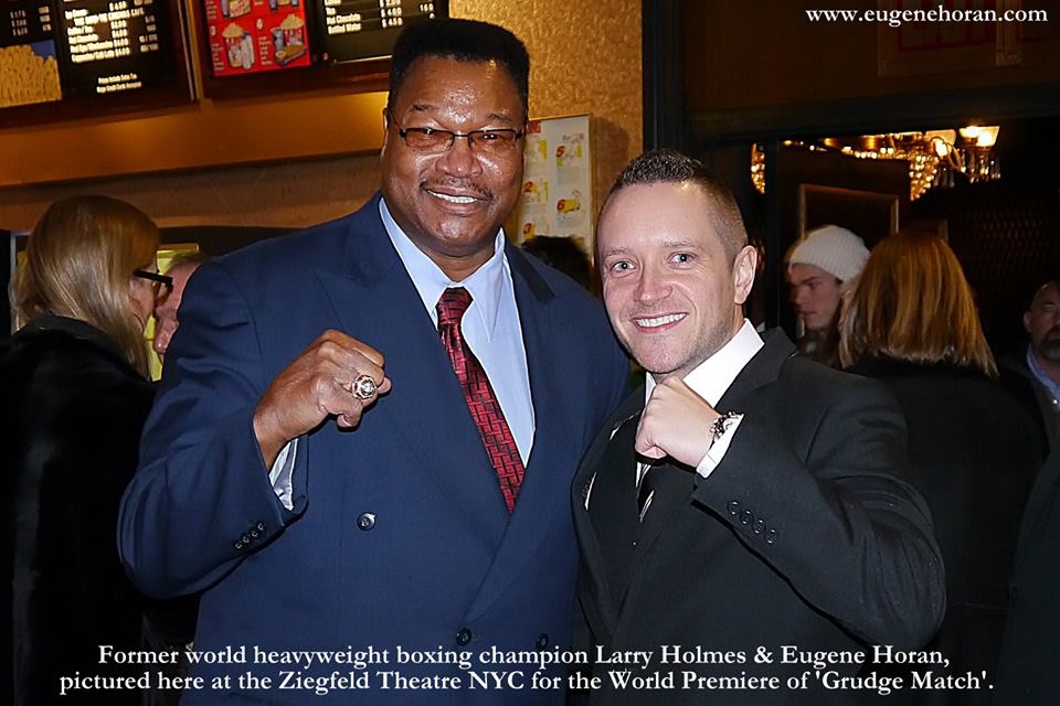 'HEAVYWEIGHT LEGEND' - Larry Holmes is a true legend of boxing. A former heavyweight champion of the world, Holmes had 75 professional fights, 69 wins & 44 by K.O! He was one of a rare few to share a ring with both Muhammad Ali & Mike Tyson. It was a real pleasure to meet him. He was only too happy to talk boxing and pose for this traesured photograph.
