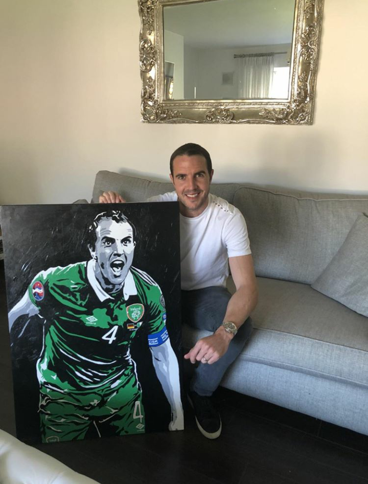 'COMETH THE HOUR'... - 1-0 down, deep into stoppage time. Away to the world champions Germany,in a crucial Euro 2016 qualifier... and on his 100th cap for his country. It really doesn't get much more epic that that! It was a real pleasure to recreate this iconic moment for one of Ireland's most decorated footballers- the legendary John O'Shea.