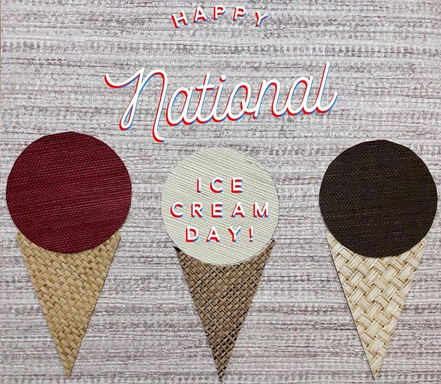 Seems fitting that National Ice Cream Day is on the second hottest day of they year! Headed out for a @benandjerrys chocolate chip cookie dough cone right now!  #notyourgandmaswallpaper #pacificdesignsgrasscloth #pacificdesignswallpaper #grasscloth #grassclothwallpaper #lovewallpaper #wallpaperlove #wallpaperisthenewblack #luxurywallpaper #designerwallpaper #wallpaperinspo #wallpapergoals #wallpaperdesign #wallpapershabby #wallpaperdecor #sisal #interior123 #interior_design #interiorsinspo #interiorstyling #designinspo #designinspiration #smmakelifebeautiful #showmeyourstyled #pursuepretty #bhghome #nationalicecreamday #happynationalicecreamday #frozentreats #summertreats