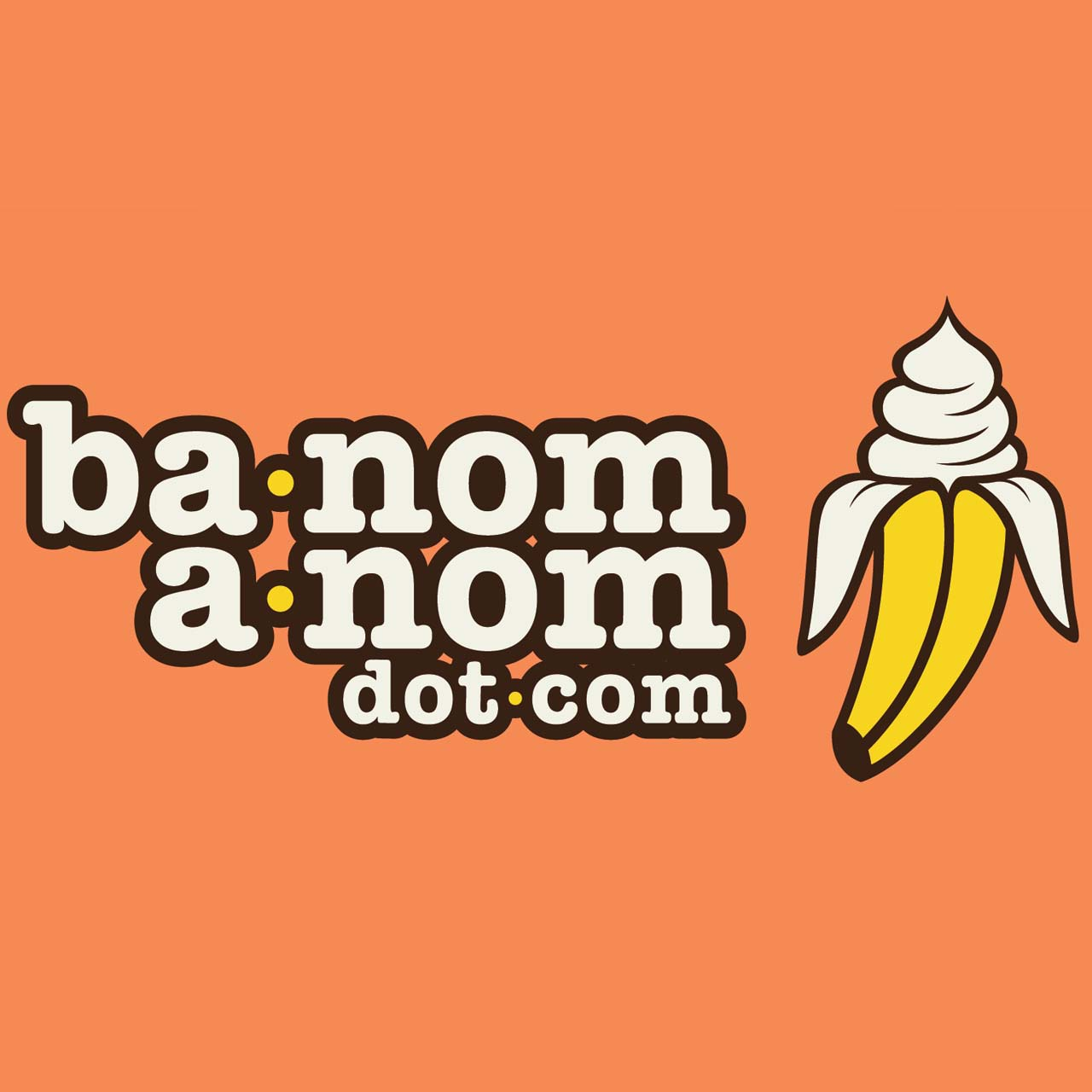 Ba-Nom-a-Nom   We take a variety of frozen fruits, put them through our special blender, and it whips up the frozen fruit into a fluffy, soft serve, consistency. We do not add any dairy, sugar, nut products, stabilizers, or ANYTHING for that matter. just fruit. Ba-Nom-a-Nom is dairy free (vegan), gluten free, nut free, sugar free, fat free, & egg free by nature.