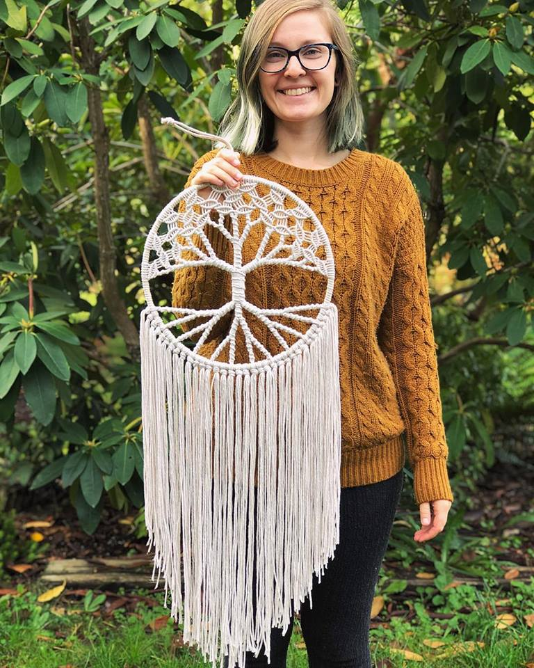 Creating Art for Sustainability - Metta Weaving is a handcrafted business located on the Kitsap Peninsula of Washington State. My name is Kahlia Chase and I am the owner and crafter of Metta Weaving.