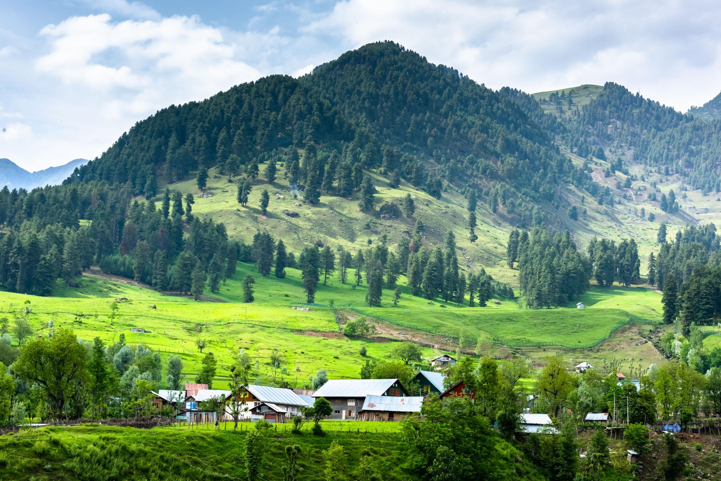 Village in Aru Valley