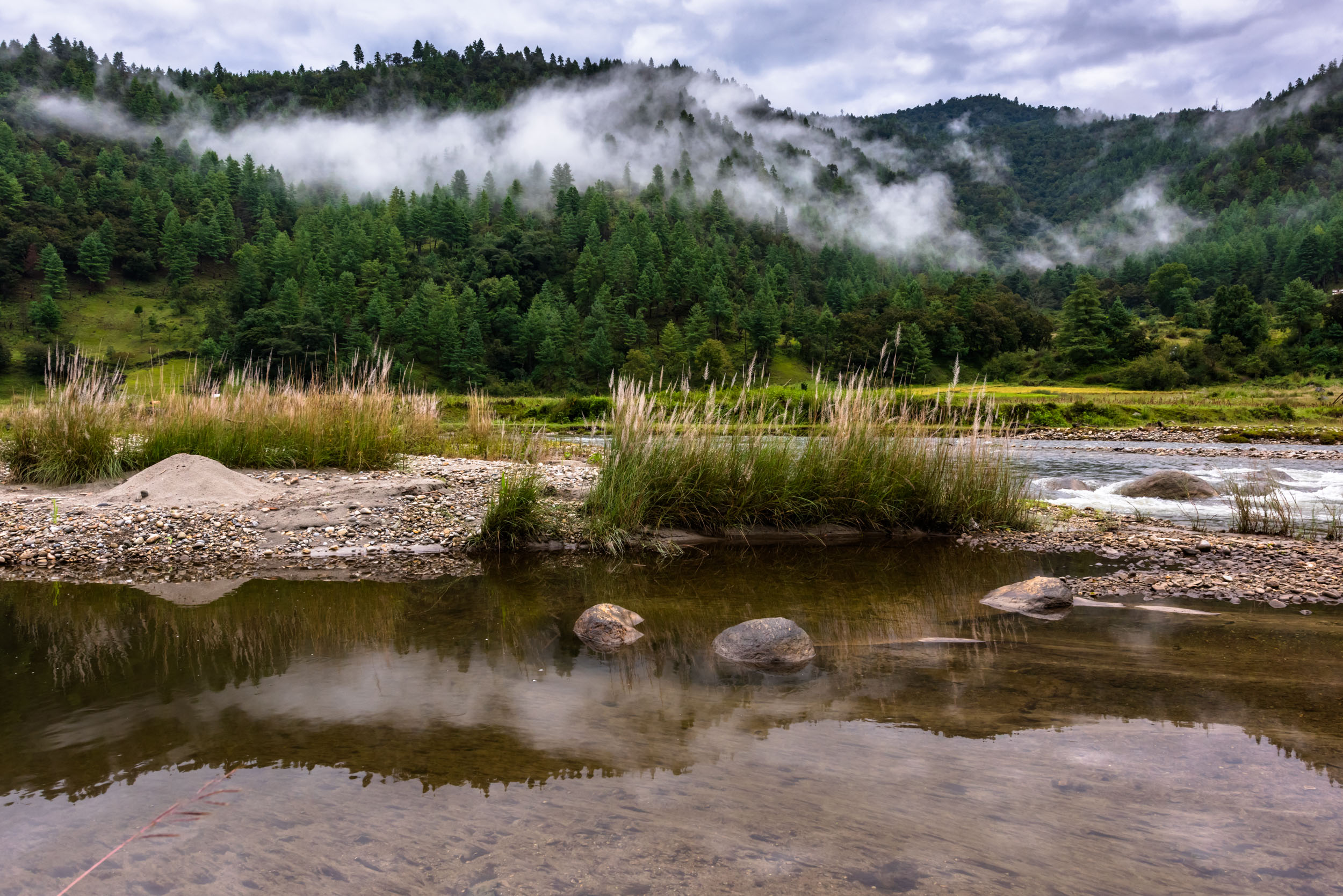 Reflections of Misty Mountains