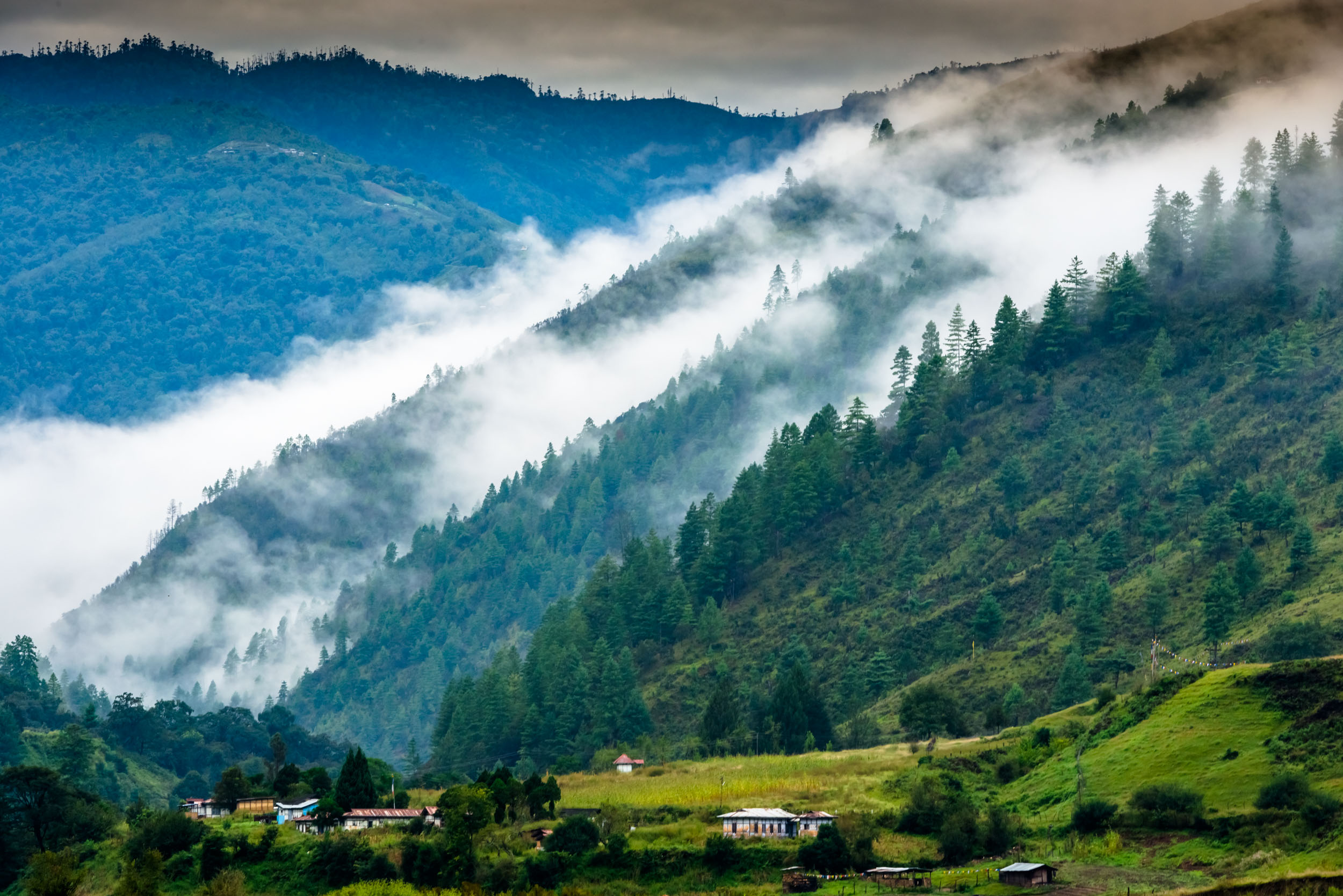 Mist Layers above village