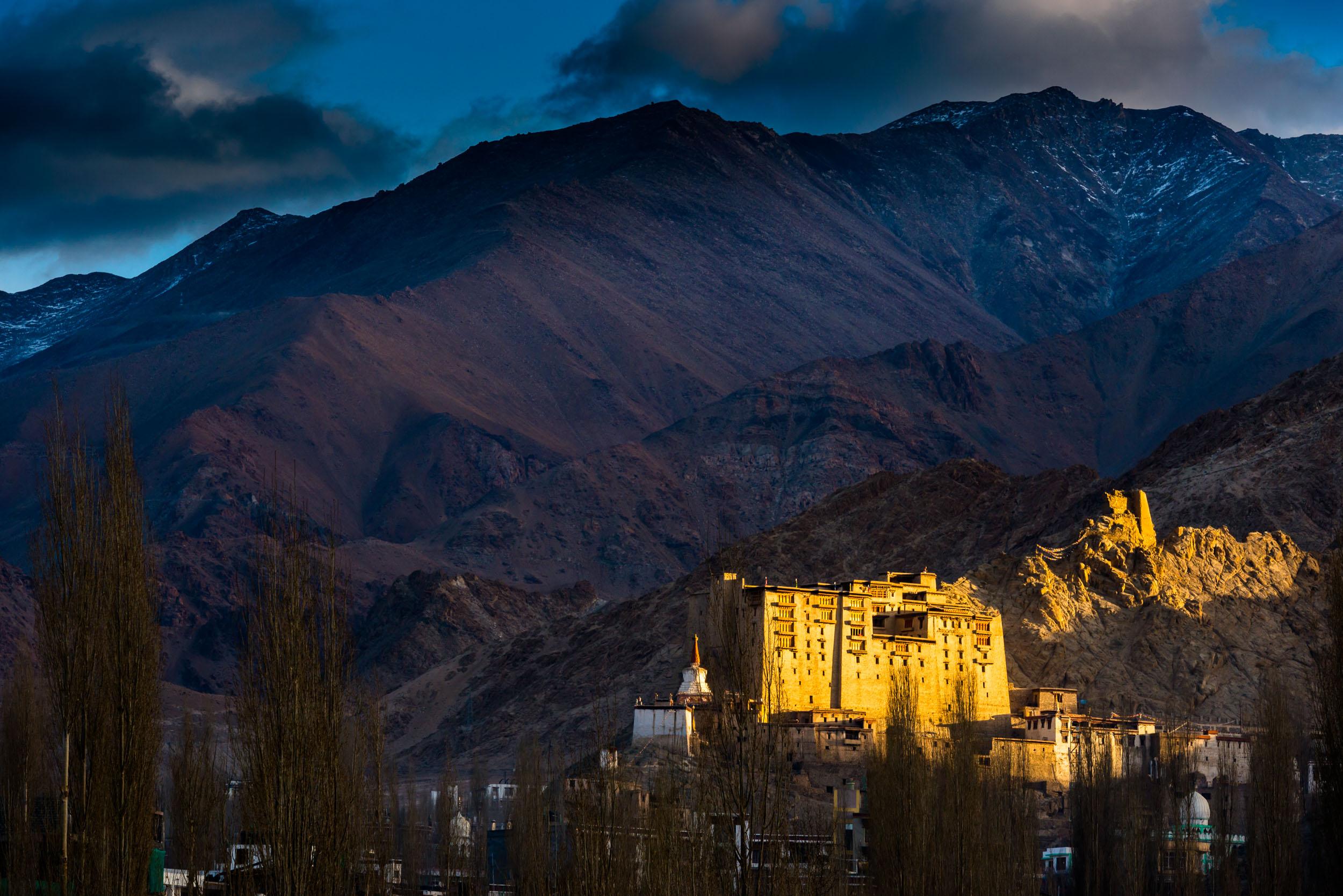 First Rats of Sun on Leh Palace,Leh Town, Jammu and Kashmir