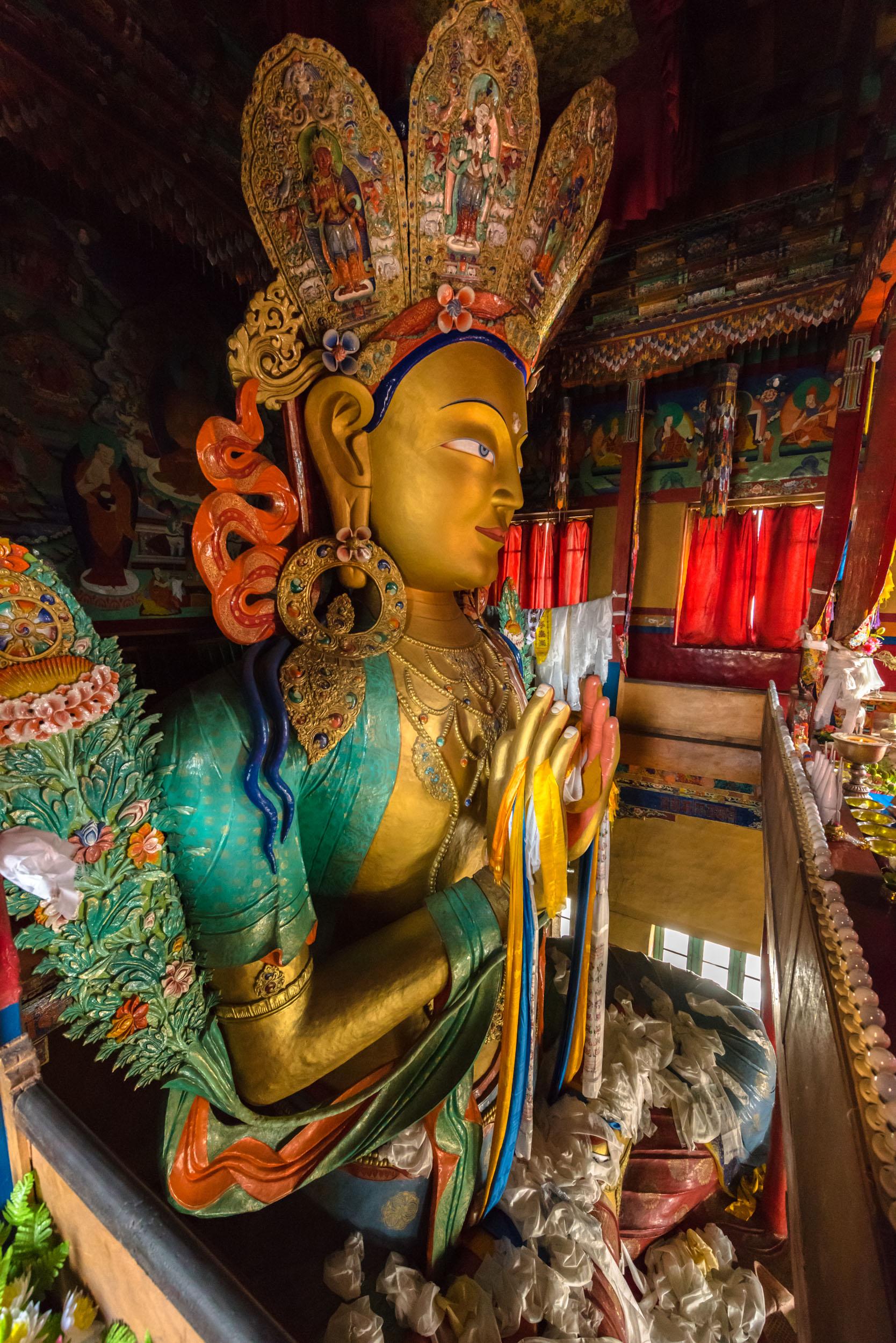 Statue of Maitreya,Leh, Jammu and Kashmir
