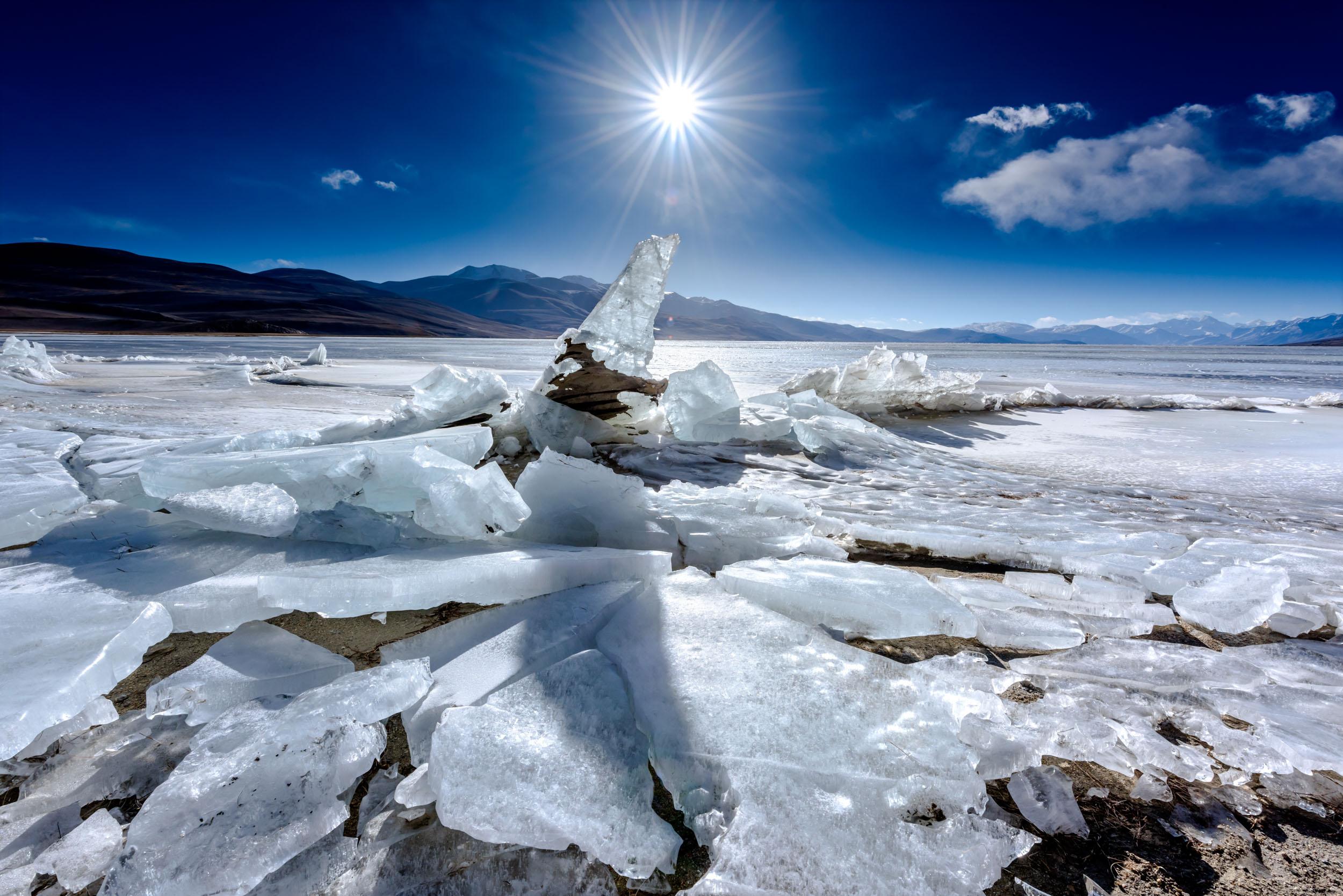 Icy Formations at Lake Tso Moriri