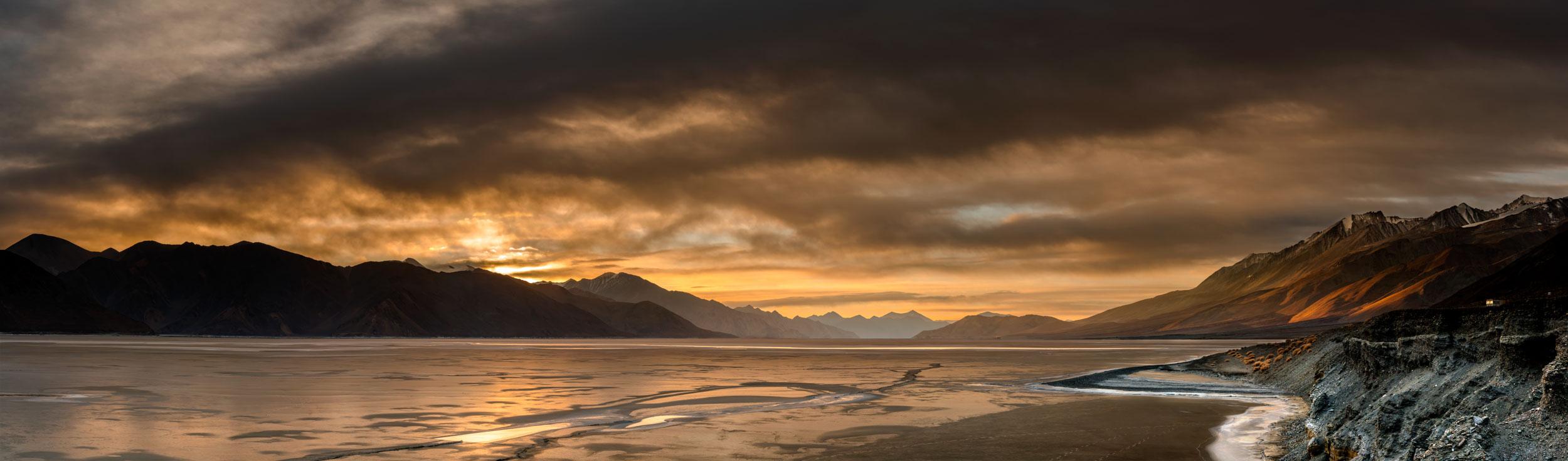 Frozen Pangong Tso Lake,Ladakh,Jammu and Kashmir