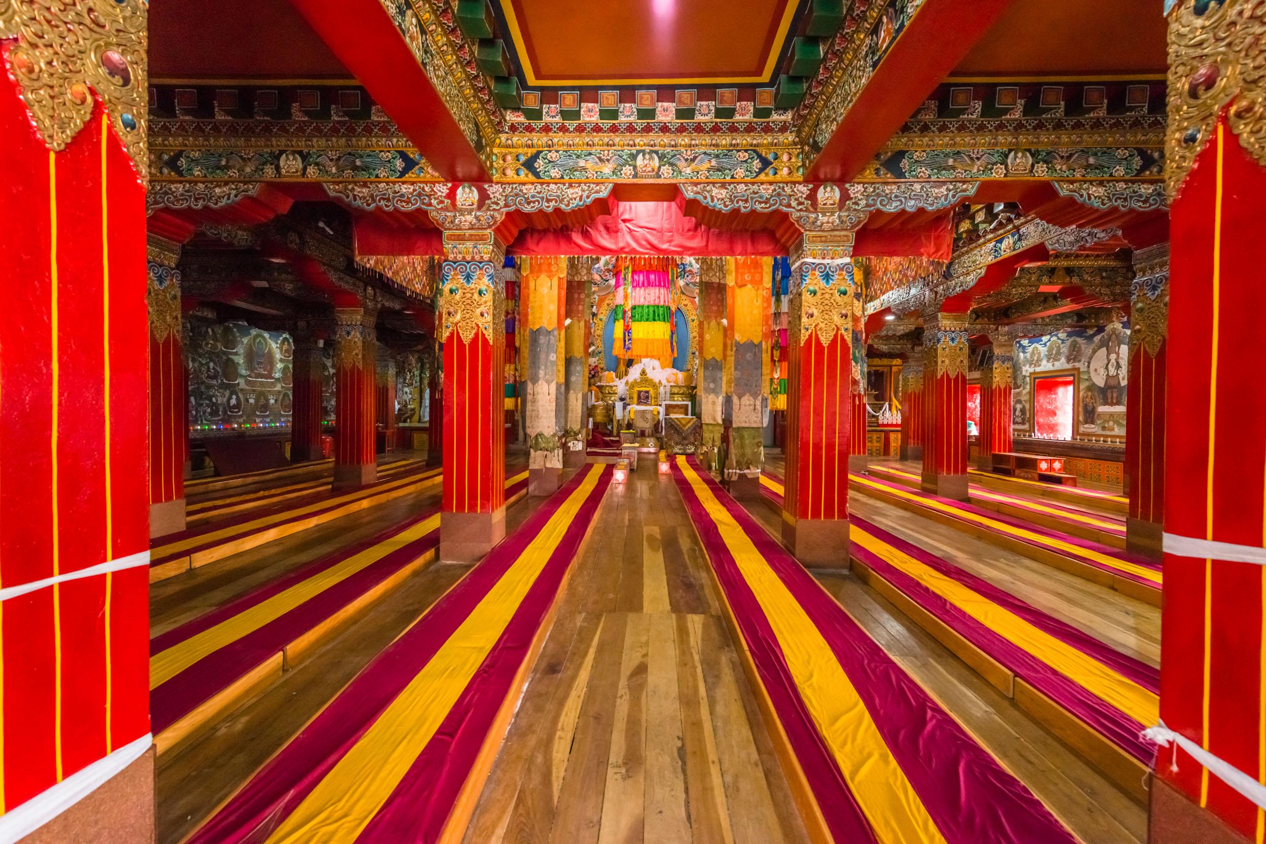 Inside Tawang Monastery Prayer Hall