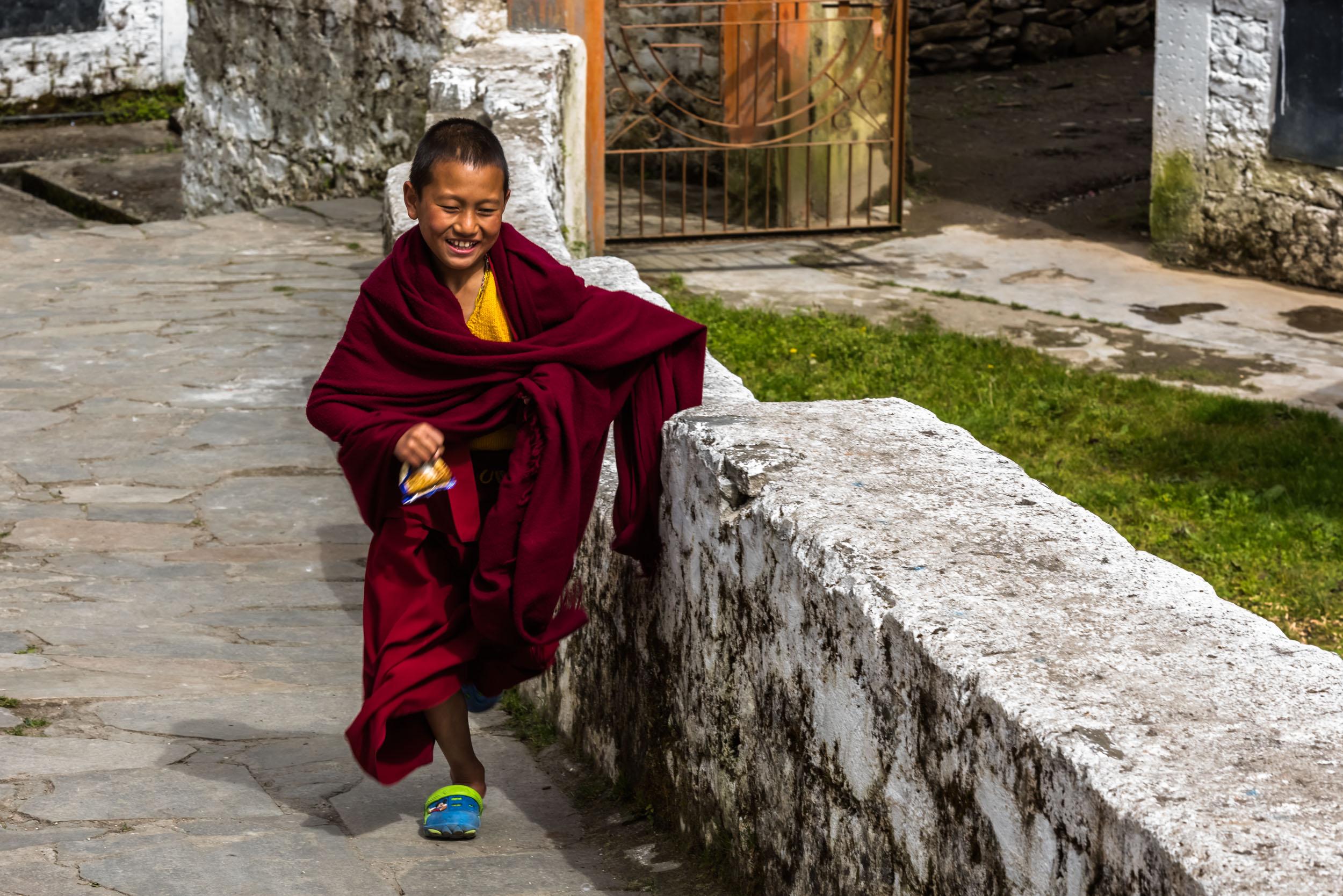 Happy Kid in Tawang Monastery