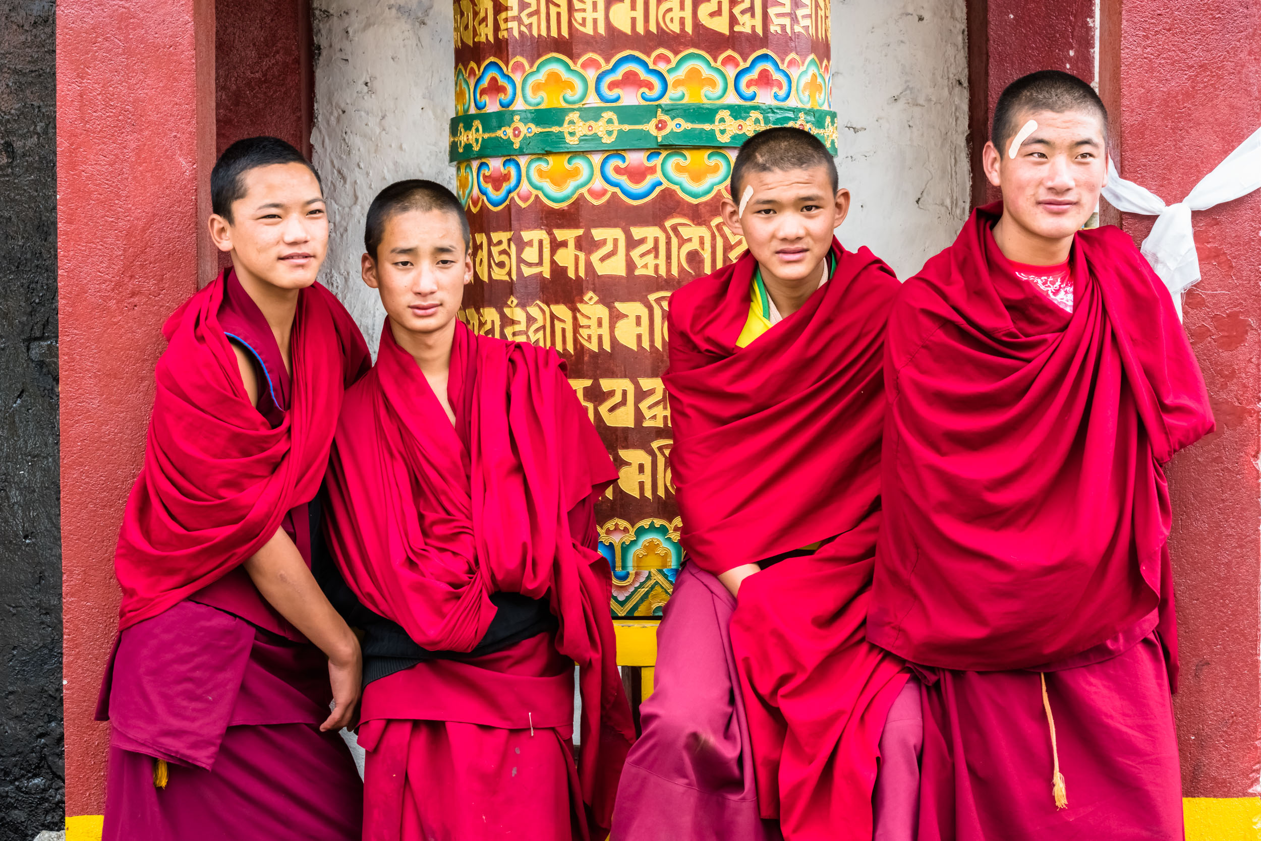 Young Monks in Monastery