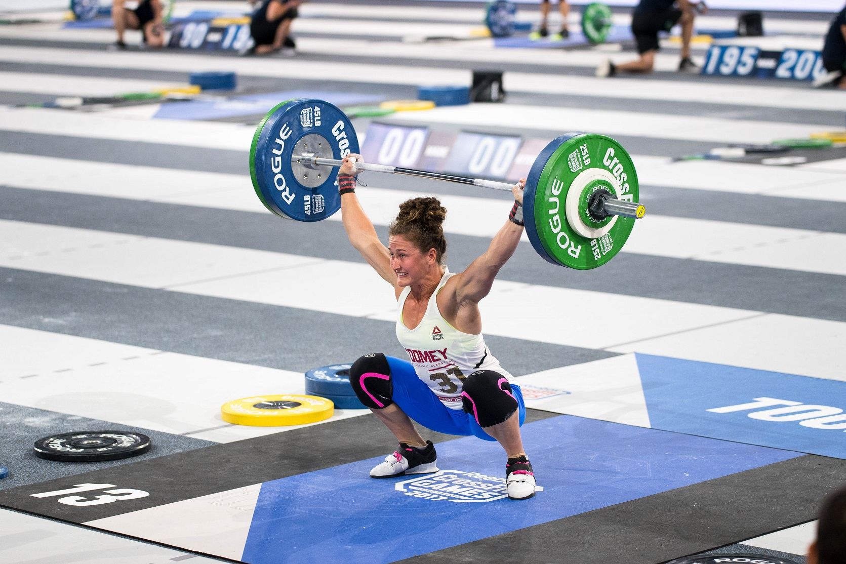 CrossFit Games champion 2017, Tia Clare Toomey, during the max snatch event