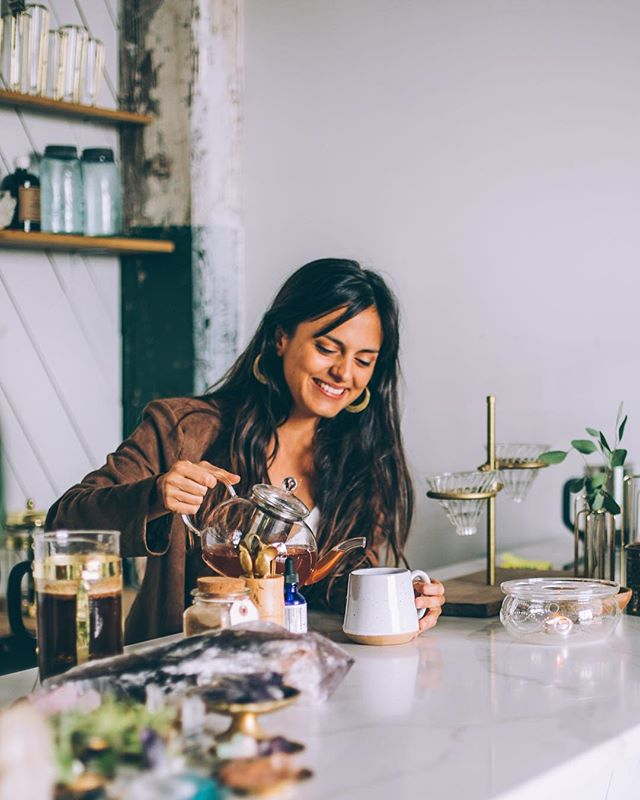 We've got a new self-💗 interview with Adriana Ayales up on the blog! Adriana is a rainforest herbalist from Costa Rica and founder of herbal apothecary @animamundiherbals. Link in bio ✨ Photo: Renee Byrd.