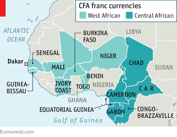 Image Credit:  www.economist.com/middle-east-and-africa/2018/01/27/francophone-africas-cfa-franc-is-under-fire