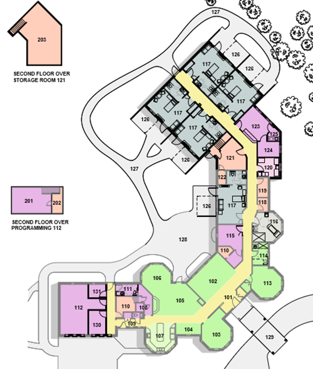 Architectural plans for Phase 2 renovations have already been completed, and the necessary connections for plumbing, electrical, fire suppression, and networking were prepared during Phase 1 renovations.