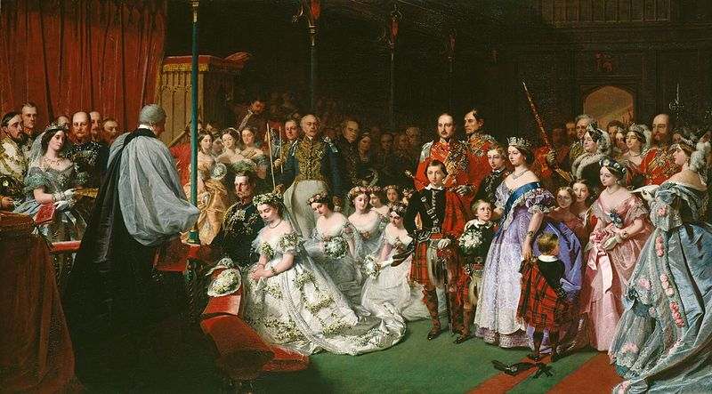 The Marriage of Victoria, Princess Royal, 25 January 1858, Courtesy of  WikiMedia Commons