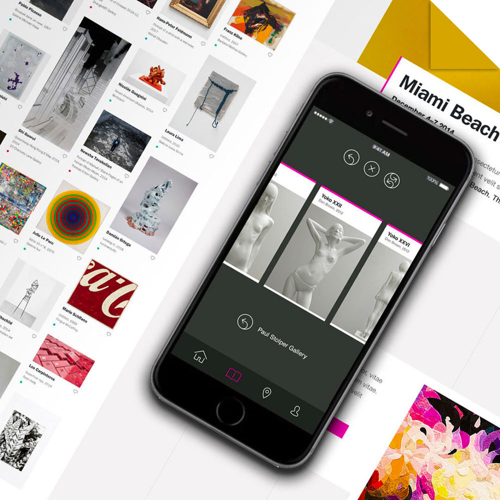Art Basel (2015)   Digital product strategy and creative direction for the world's most prestigious art fair   Read case study