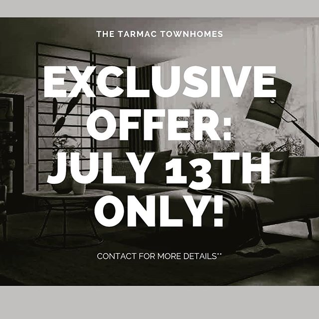 Come join us at our event in Kingsway Mall on July 13th. Put an offer on one of of remaining few units and get a 10k gift card from ARTICLE.COM or your choice of furniture store! Offer available only on July 13th for qualified buyers. Contact our office for more details!** #yegre #blatchfordedmonton #kingswaymall #edmontonrealestate