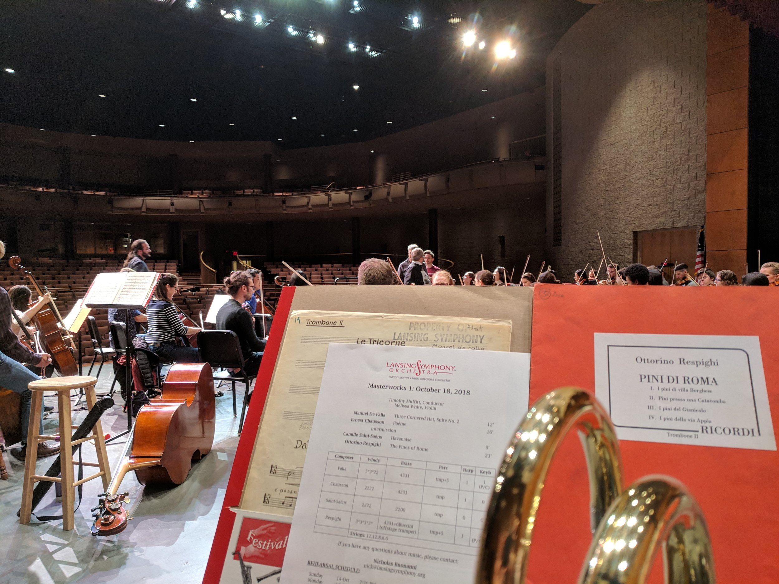 Rehearsal with the Lansing Symphony!