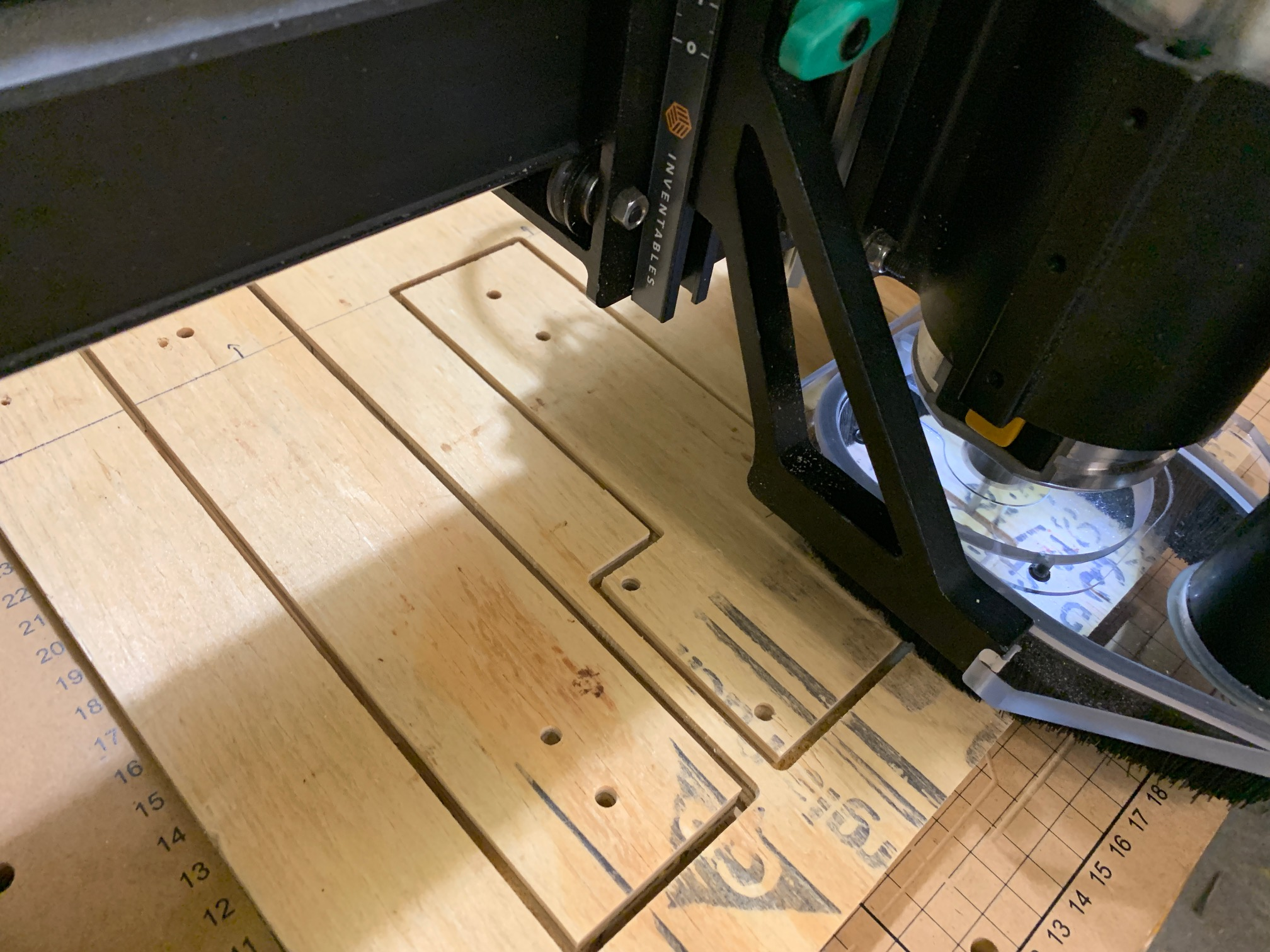 Cutting out temporary mounting frames for the Limelight