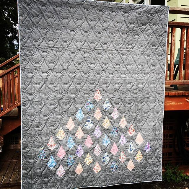 Always fun to see the finish photos from the creations I get to quilt for @sushi.farmer ! #Repost @sushi.farmer (@get_repost) ・・・ This beautiful diamond quilt pattern is by my dear friend Alane Davis @alanedaviscreates and is called Lucy In The Sky.  Alane's gorgeous version is all Alison Glass, hung at this last QuiltCon, and won a ribbon.  When asked to do a pattern test I wanted to do a version which showed the versatility of this pattern.  My Liberty  of London on Essex is entirely different from Alane's original. . . This pattern can be traditionally pieced or foundation paper pieced, whatever your preference.  If you want to make one of your own Lucy quilts head over to Alane's blog using the link in my bio. . . Perfect quilting by Cindy @cascadiaquilts 😍 she's the bomb! . . #lucyintheskyquilt  #sassgroup
