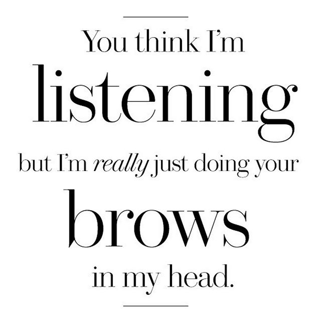 Guilty 🙋🏻♀️. Sometimes I have to ask someone to repeat what they were saying cause I wasn't paying attention 🤦🏻♀️ . . . . . . . . . #letmedoyourbrows #microblading #powderbrows #ombrebrows #semipermanentmakeup #pmu #browstudio #allaboutthebrows