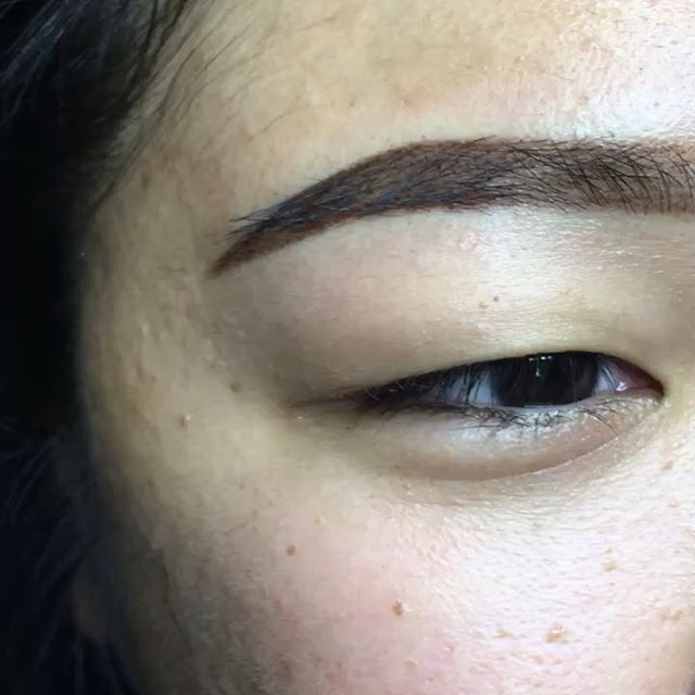 Elongated her eyebrows and  added a little bit of an arch. She wanted a soft ombré while keeping her natural shape. Used @tinadaviesprofessional in Bold Brown. I can't wait to see how these heal! Swipe left for her before picture and one immediately after. . . . . . . . . . . . #softpowderbrow #powderbrows #ombrebrows #datombreeffect #browsofinstagram #archaddicts #pmuartist #covina #westcovina #azusa #azusapacificuniversity #apu