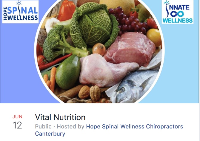 Vital Nutrition - We have added in an extra workshop this month! Join us on Wednesday 12th June at 7:00 pm to find out how to eat well for life…