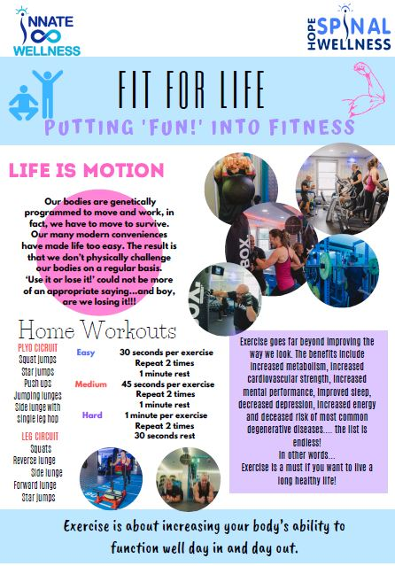 Fit For Life! - In this week's Hope Chat we are delving into exercise myths and the benefits of regular exercise, along with some simple home workout suggestions!