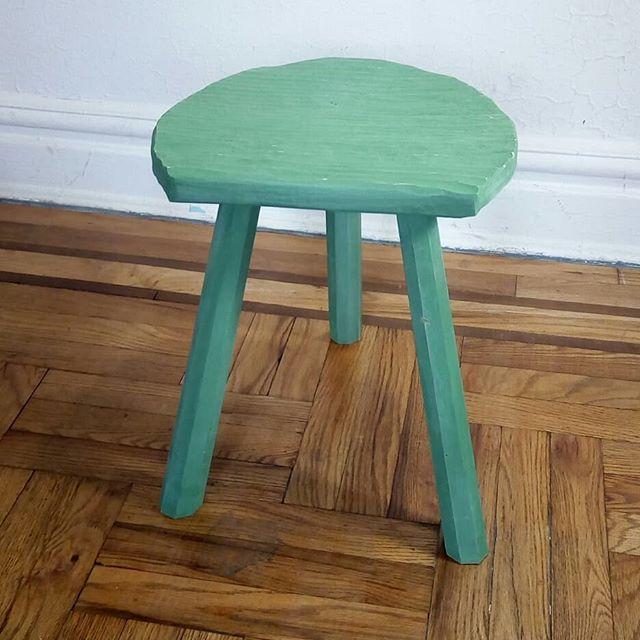 Number one Sloyd Stool.  #handtool #woodworking #sloyd #stool #simple #furniture #milkpaint