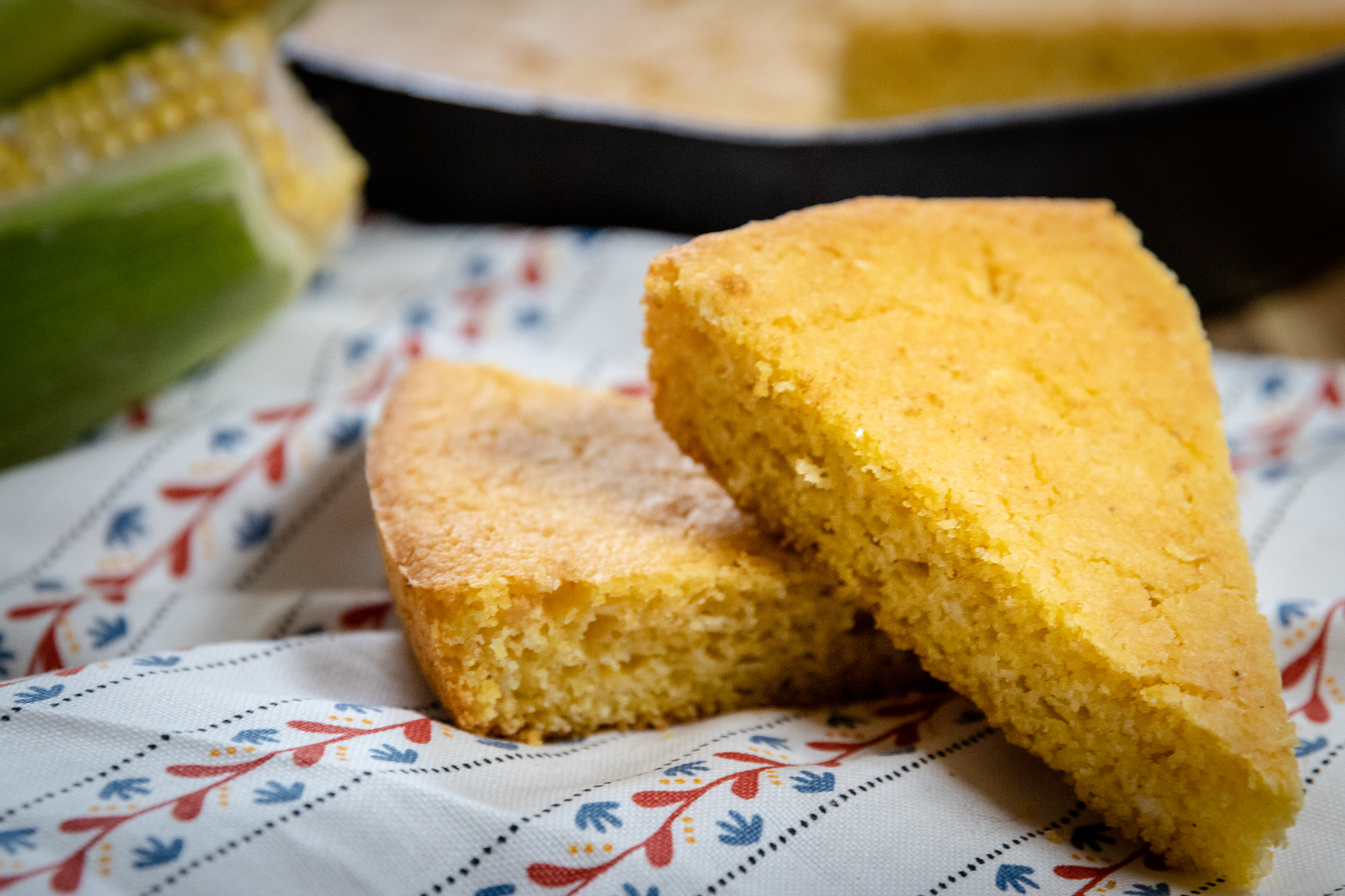 Nothing goes better with a hot bowl of soup, chili, or beans than some homemade cornbread. My mom has always used mayo in her cornbread in place of eggs, so swapping out for vegan mayo was an easy fix. Using oat milk will help you get a darker color in vegan baked goods, but use whatever plant based milk you have on hand. You can easily bake these up in a muffin tin as well, if you prefer corn muffins to regular cornbread.