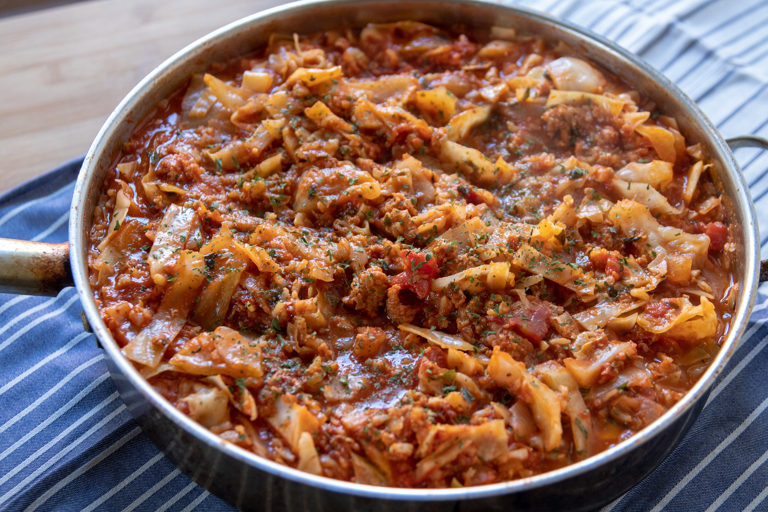 "Cabbage rolls are one of my favorite comfort meals, however they are not quick. That's why I love this recipe for ""unstuffed"" cabbage rolls. It's so much faster, and just as delicious, and comforting. This recipe makes a lot and freezes well, so it's also perfect for meal prep, or even a pot luck."